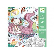 Djeco Surprise Colouring Sheets UNDER THE SEA