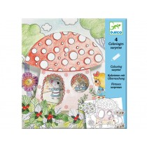 Djeco 3D Colouring Pages Thumbalina