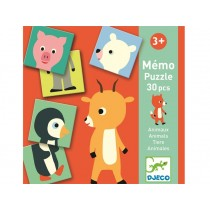 Djeco Memo-Puzzle ANIMALS