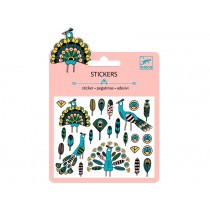 Djeco Mini stickers FEATHERS AND PEACOKS