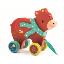 Djeco Pull Along Toy BEAR LASLO