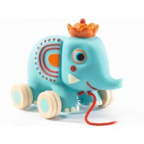 Djeco Pull Along Toy ELEPHANT ZEPHIR