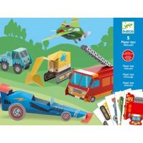 Djeco paper toys vehicules