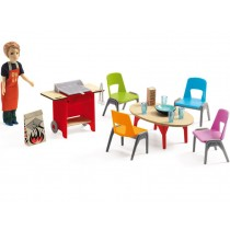 Djeco dollhouse Barbecue & Accessoires