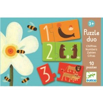 Djeco duo puzzle with numbers