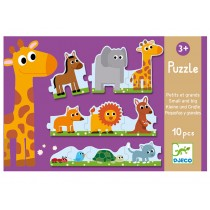 Djeco Duo puzzle Small and Big