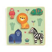 Djeco Relief Puzzle SAVANNAH ANIMALS