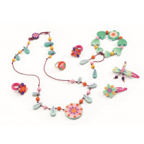 Djeco Jewelry Set WOODEN FLOWERS