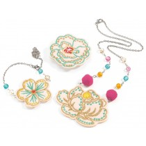 Djeco Embroidered Jewels Flowers