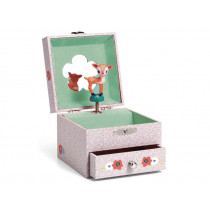 Djeco Music box with jewelry box SONG OF THE FAWN
