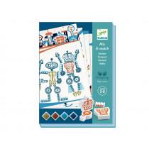 Djeco Mix & Match Stamps ALIEN ROBOTER