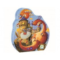 Djeco Puzzle CASTLE AND DRAGON (54 pieces)