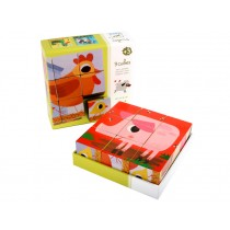 Djeco puzzle chicken and friends