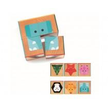 Djeco Cube Puzzle Cubabasic ANIMALS