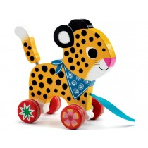 Djeco Pull Along Toy LEOPARD GRETA