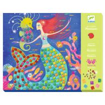 Djeco Mosaics Art By Numbers MERMAIDS