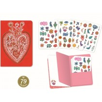 Djeco Notebook with Stickers AURELIA