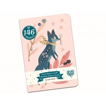 Djeco Notebook with Stickers LUCILLE