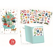 Djeco Notebook with Stickers SARAH