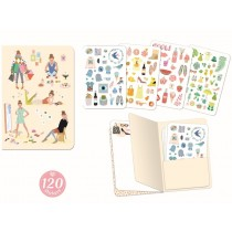 Djeco Notebook with Stickers TINOU