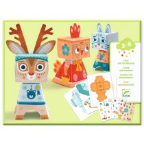 Djeco Paper Crafting FUN FOREST ANIMALS