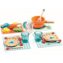 Djeco Play Kitchen Dinner Set KITTENS
