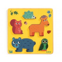 Djeco Relief Puzzle FOREST ANIMALS