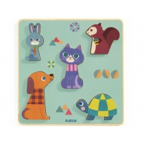 Djeco Relief Puzzle ANIMALS