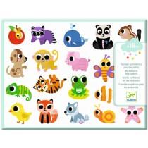 Djeco Puffy Stickers ANIMAL BABIES