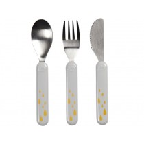 Done by Deer Cutlery set CONTOUR grey/gold