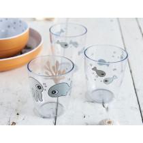 Done by Deer mini glass set SEA FRIENDS mustard/grey