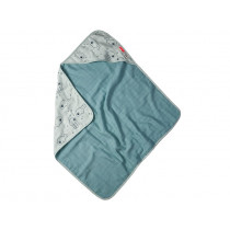 Done by Deer Hooded Towel SEA FRIENDS blue