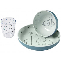 Done by Deer Baby Tableware Set DREAMY DOTS blue