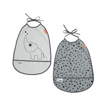 Done by Deer Bib 2-pack ELPHEE grey