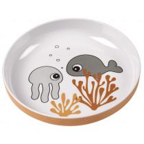 Done by Deer mini plate SEA FRIENDS mustard/grey