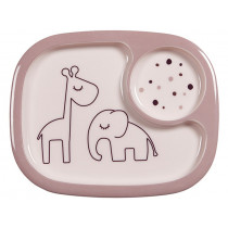 Done by Deer Compartment plate DREAMY DOTS powder