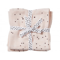 Done by Deer Burp and Swaddle Cloth 2-pack DREAMY DOTS powder