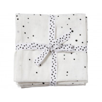 Done by Deer Burp and Swaddle Cloth 2-pack DREAMY DOTS white