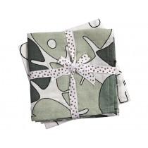 Done by Deer Burp and Swaddle Cloth 2-pack TINY TROPICS