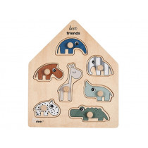 Done by Deer 7 Piece Wooden Puzzle DEER FRIENDS