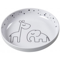 Done by Deer Plate DREAMY DOTS grey