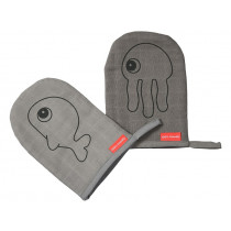 Done by Deer Wash cloth 2-pack SEA FRIENDS grey