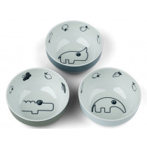 Done by Deer Mini Bowl Set of 3 YUMMY blue mix