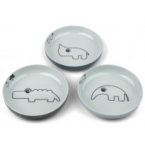 Done by Deer Mini Plate Set of 3 YUMMY blue mix