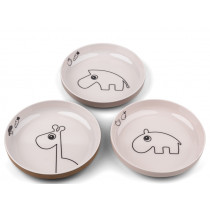 Done by Deer Mini Plate Set of 3 YUMMY powder mix