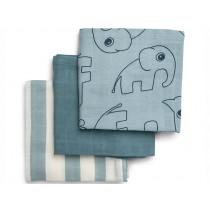 Done by Deer Burp Cloth 3-pack DEER FRIENDS blue