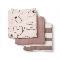 Done by Deer Burp Cloth 3-pack DEER FRIENDS powder