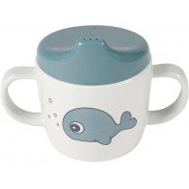 Done by Deer 2-handle cup SEA FRIENDS blue