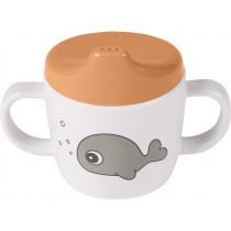 Done by Deer 2-handle cup SEA FRIENDS mustard