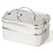 ECO Brotbox stainless steel LUNCHBOX XL DOUBLE